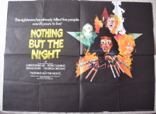Nothing But the Night, Original UK Quad Poster, Christopher Lee Peter Cushing 73